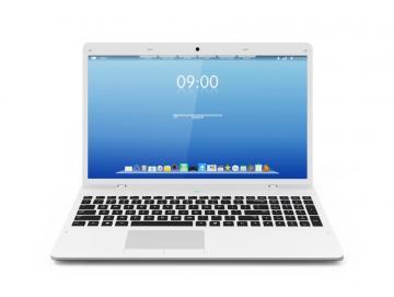 Laptop mit Software